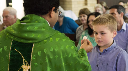 What happens during Eucharist?